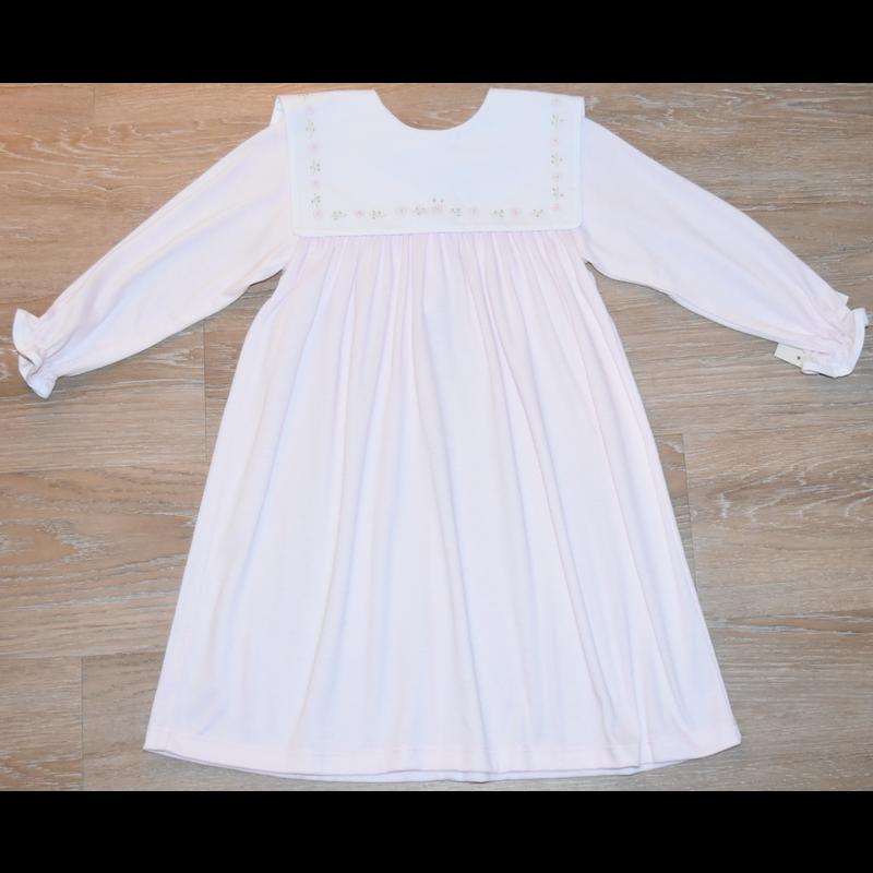 Auraluz Auraluz Pink Flowers Double Knit Dress