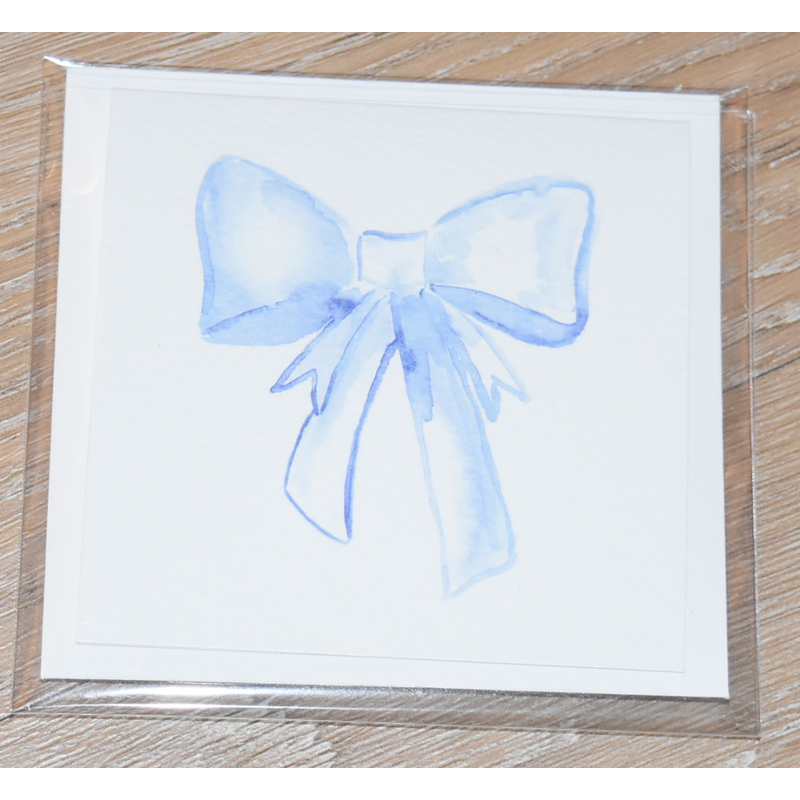 Over The Moon Over The Moon Blue Bow Enclosure Card