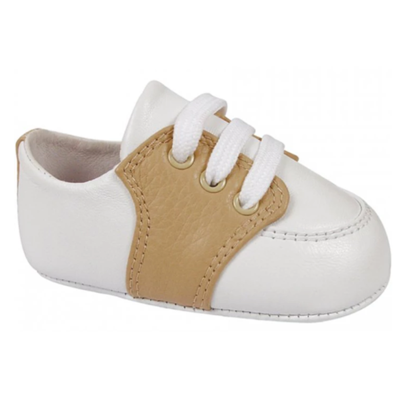 Baby Deer Conner White/Tan Leather Saddle