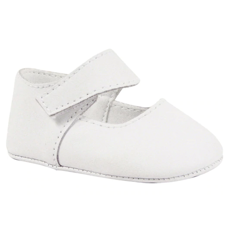 Baby Deer White Leather Mary Jane w/Removable Strap
