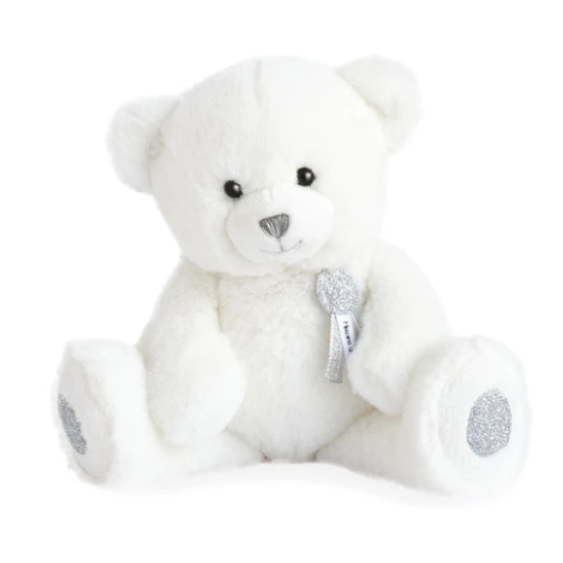 Histoire d'Ours Bear Charms White Stuffed Animal