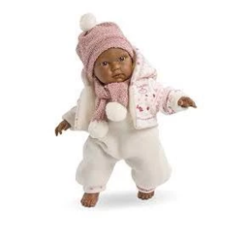 """Llorens Rosa 12"""" Crying Baby Doll"""