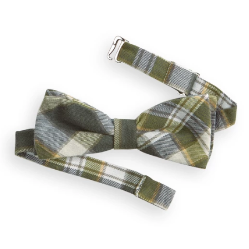 Bella Bliss Bella Bliss Hunter Plaid Holiday Bow Tie