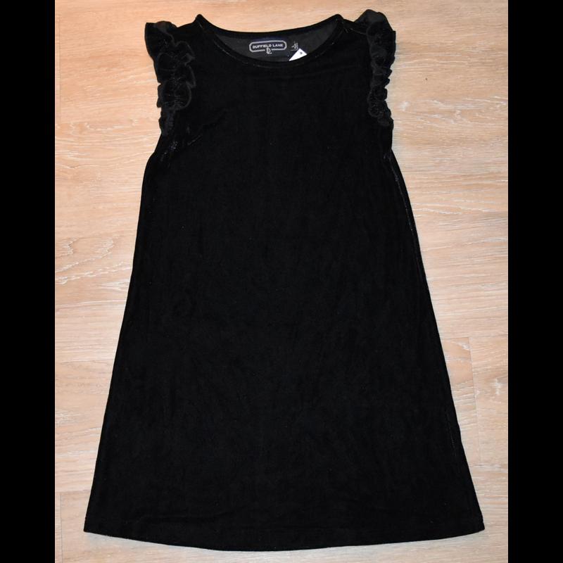 Duffield Lane Duffield Lane Black Velvet Monroe Dress