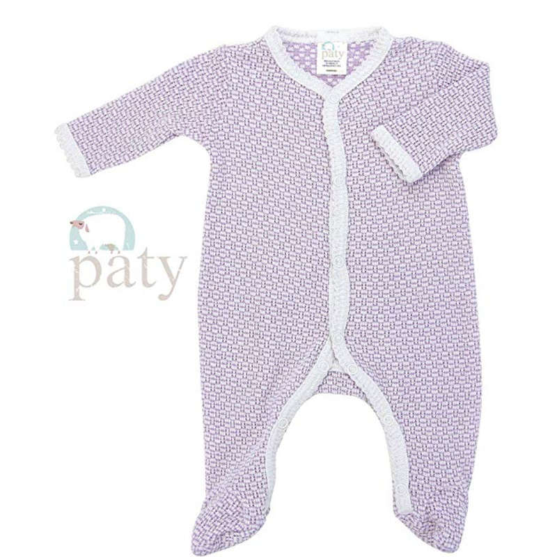 Paty Paty LS Lavender Footie w/Straight Sleeve