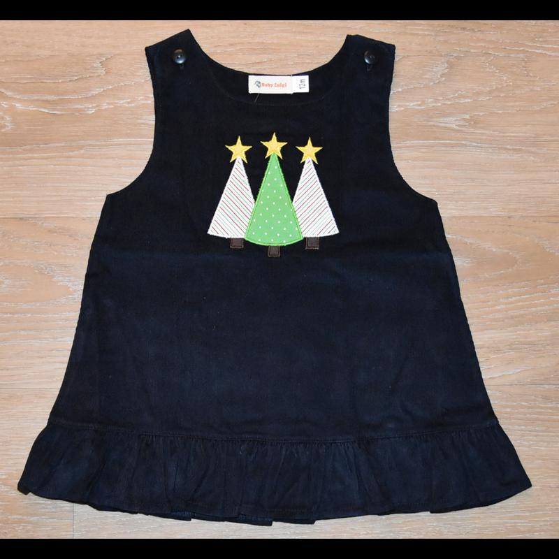 Luigi Luigi 3 Christmas Trees Corduroy Jumper