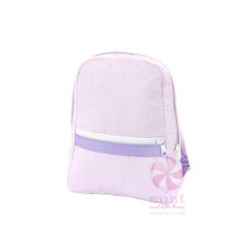 Mint Princess Seersucker Small Backpack