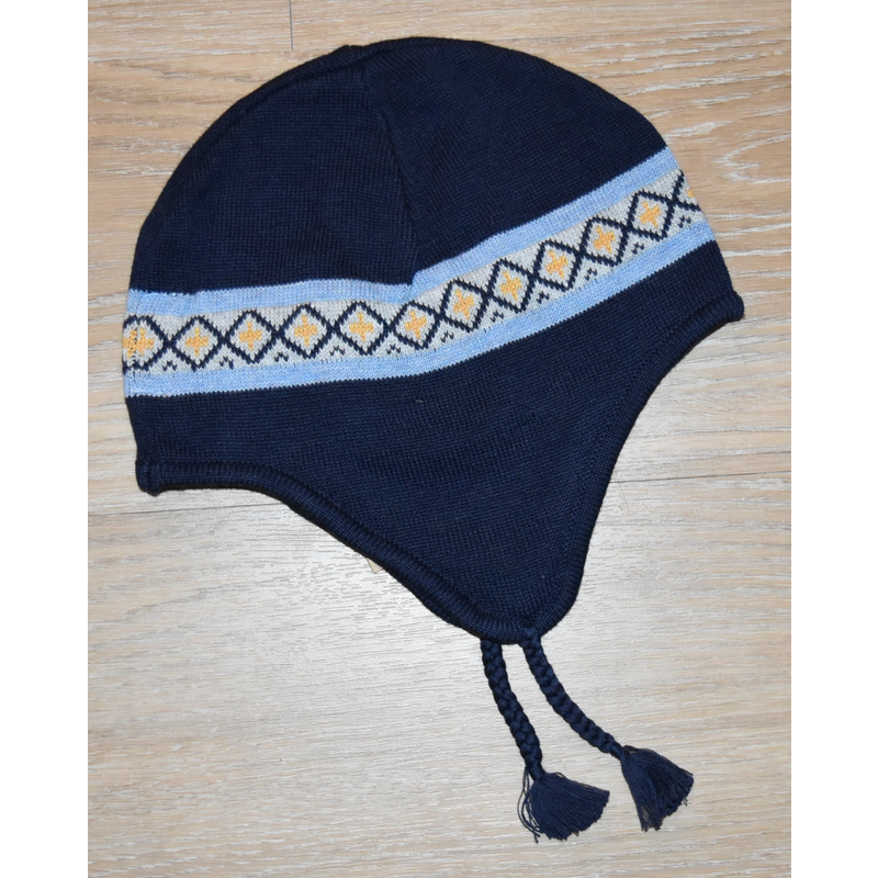 Angel Dear Angel Dear Viking Fair Isle Blue Pilot Hat