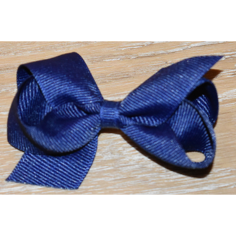 Wee Ones Bows Wee Ones Solid Light Navy Grosgrain Bow
