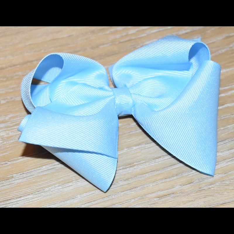 Wee Ones Wee Ones Solid Blue Grosgrain Bow