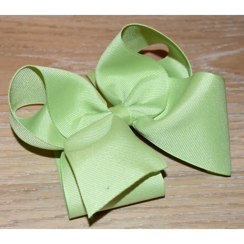 Wee Ones Bows Wee Ones Solid Lemon Grass Grosgrain Bow