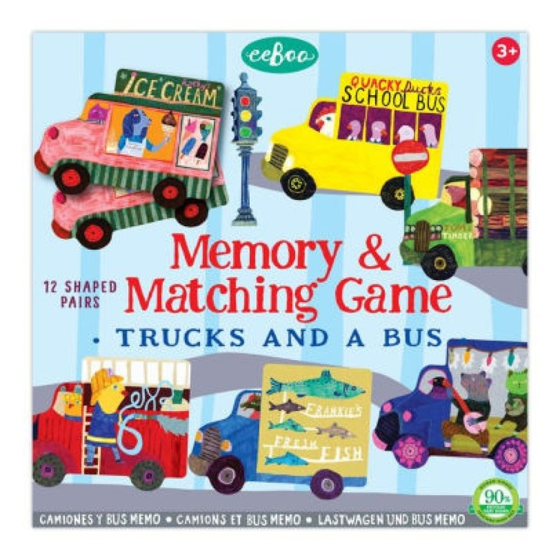 eeBoo eeboo Trucks and a Bus Shaped Matching Game
