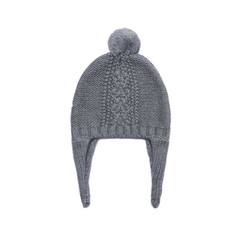 Angel Dear Angel Dear Dark Grey Heather Hat