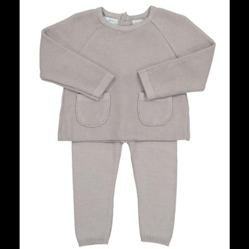 Feltman Brothers Soft Gray Pocket Knit Set