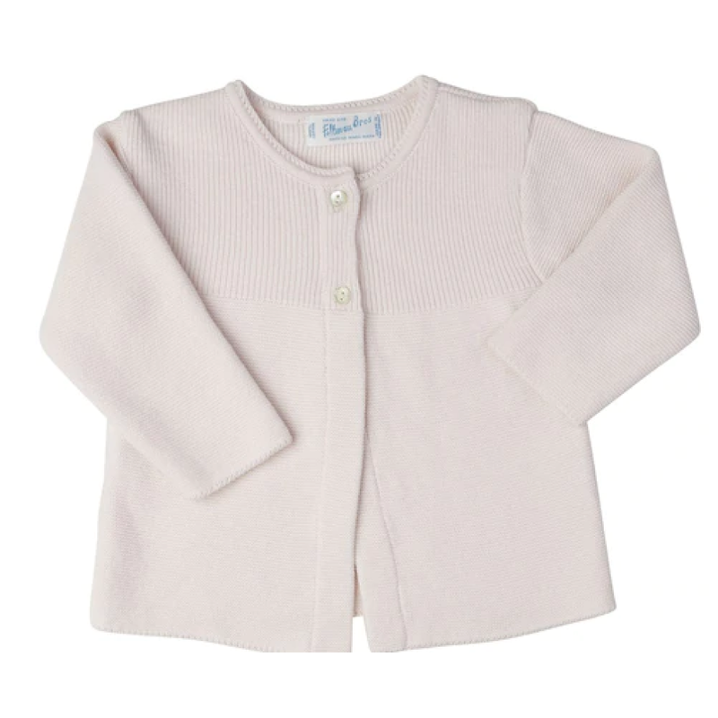 Feltman Brothers Feltman Brothers Pink Two Button Open Knit Cardigan
