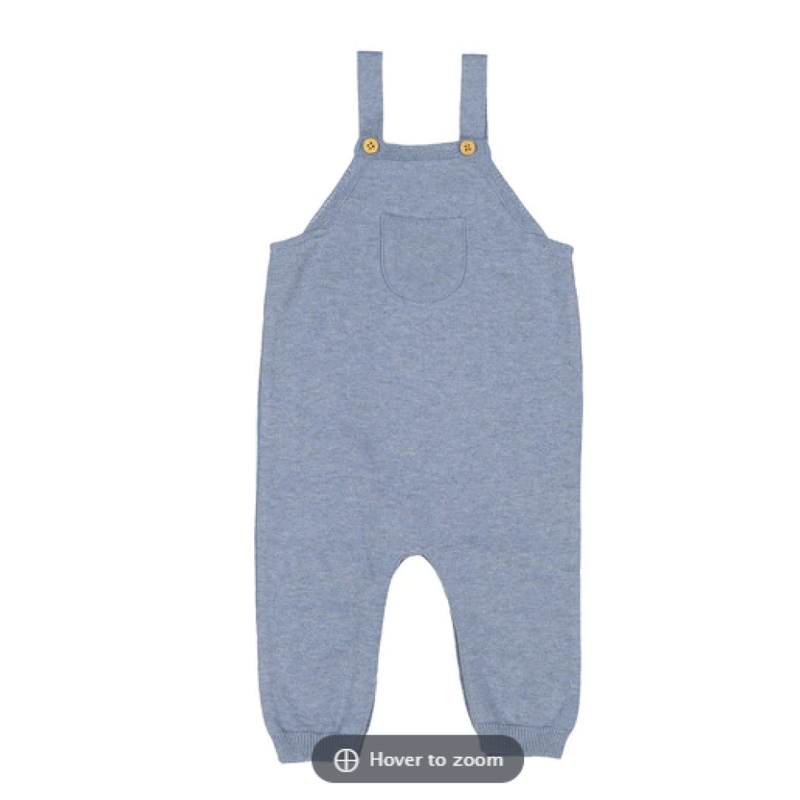Feltman Brothers Heather Blue Classic Knit Overall