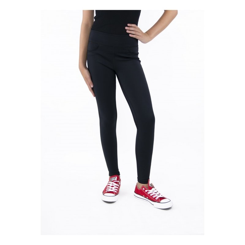 Tractr Tractr High-Rise Performance Black Legging