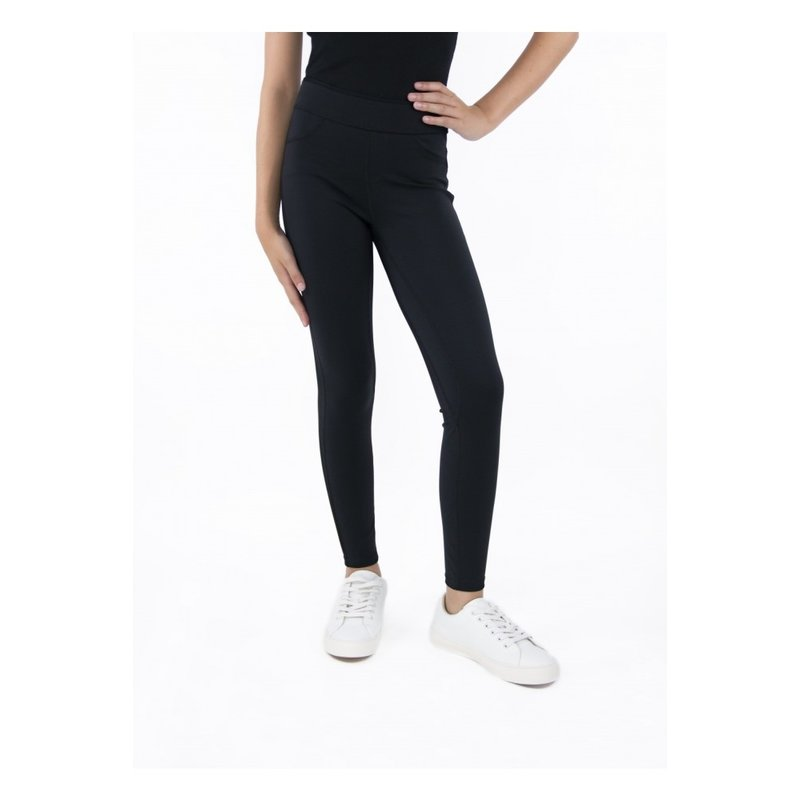 Tractr Tractr High-Rise Pull On Black Legging