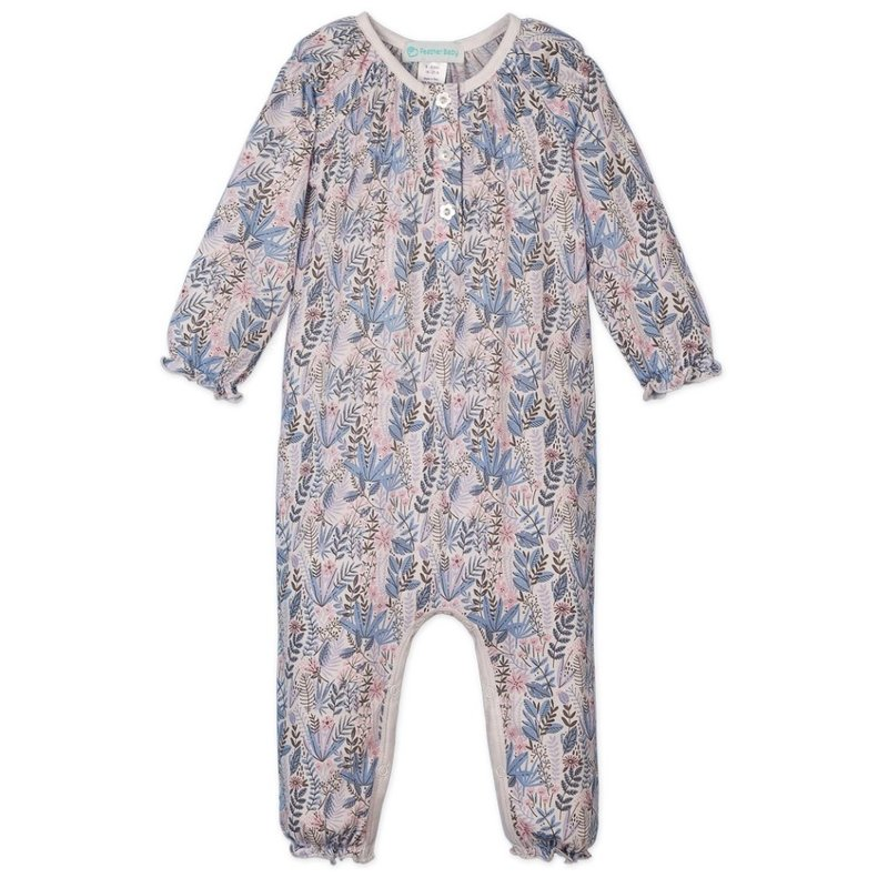 Feather Baby Feather Baby Savannah on White Ruched Romper