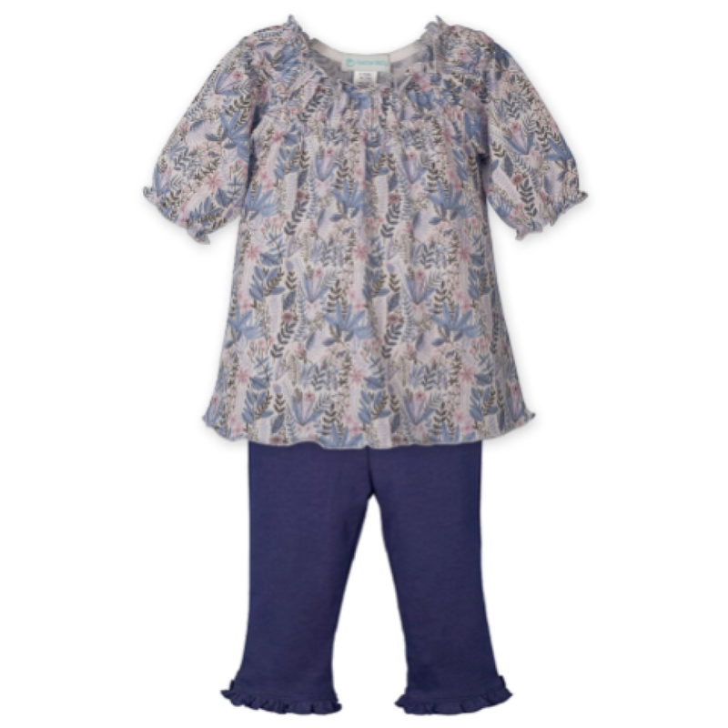 Feather Baby Feather Baby Savannah on White Ruched Tunic Set