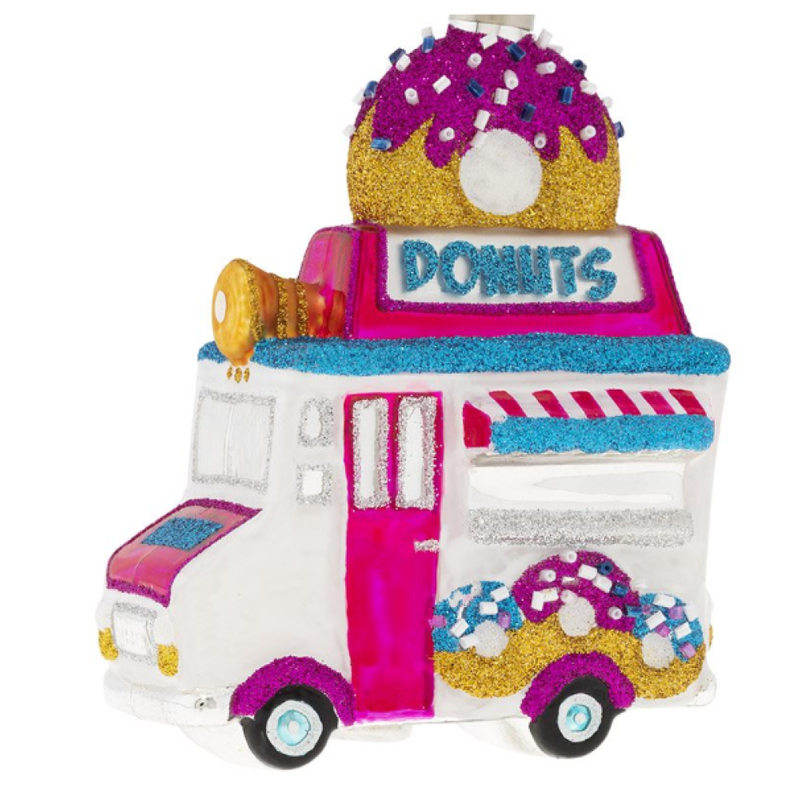 Christopher Radko Kat and Annie Donut Truck Ornament