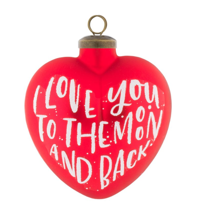 Christopher Radko Kat and Annie I Love You to the Moon and Back Ornament