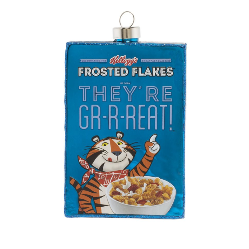 Christopher Radko Kat and Annie Frosted Flakes Ornament