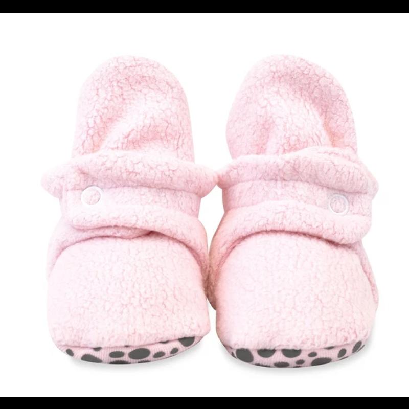 Zutano Zutano Fleece Gripper Baby Bootie - Baby Pink