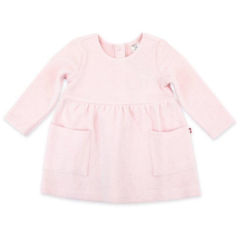 Zutano Zutano Baby Pink Cozie Fleece Dress