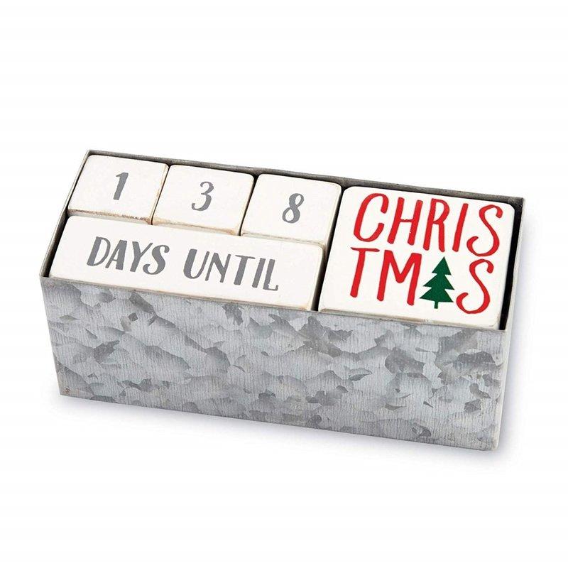 Mudpie Mudpie Holiday Countdown Wood Block Set