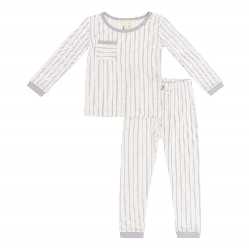 Kyte Baby Kyte Baby Toddler Pajama Set in Storm Stripes