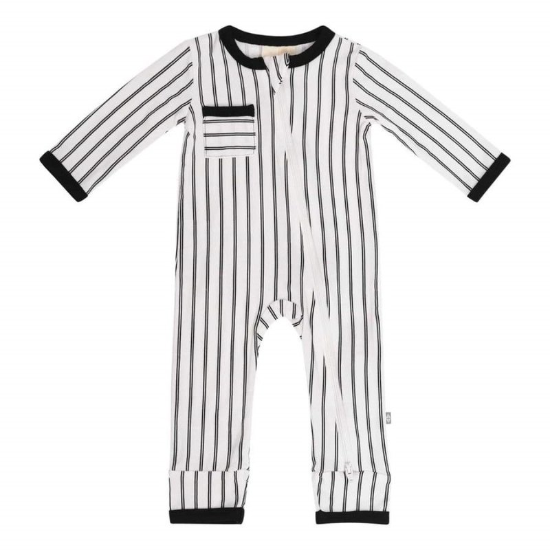 Kyte Baby Kyte Baby Zippered Romper in Midnight Stripes