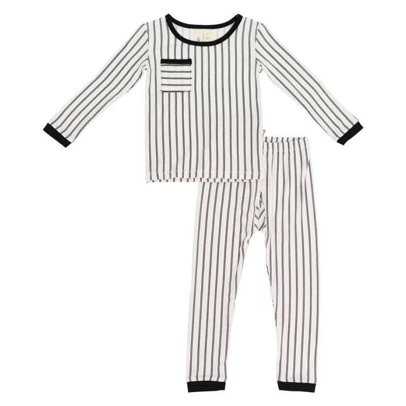 Kyte Baby Kyte Baby Toddler Pajama Set in Midnight Stripes