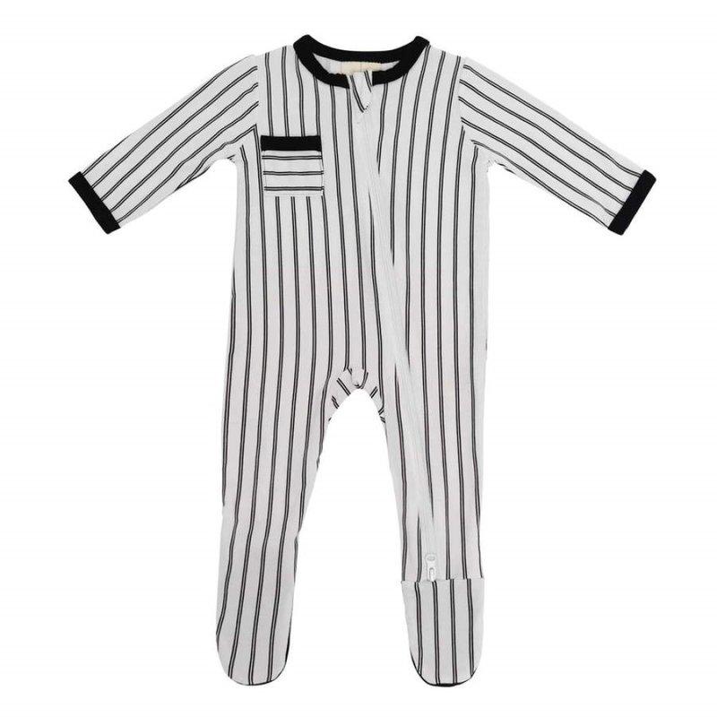 Kyte Baby Kyte Baby Zippered Footie in Midnight Stripes