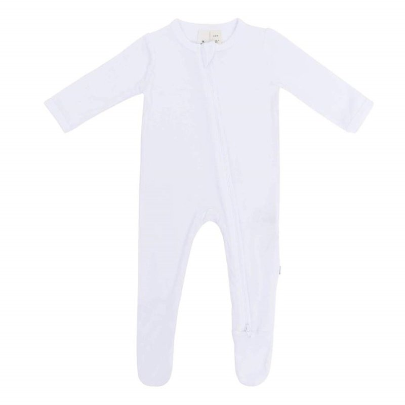 Kyte Baby Kyte Baby Zippered Footie in Snow