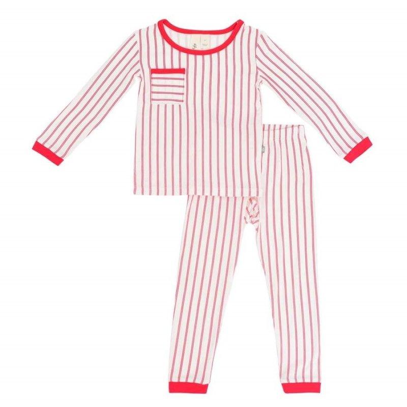 Kyte Baby Kyte Baby Toddler Pajama Set in Crimson Stripes