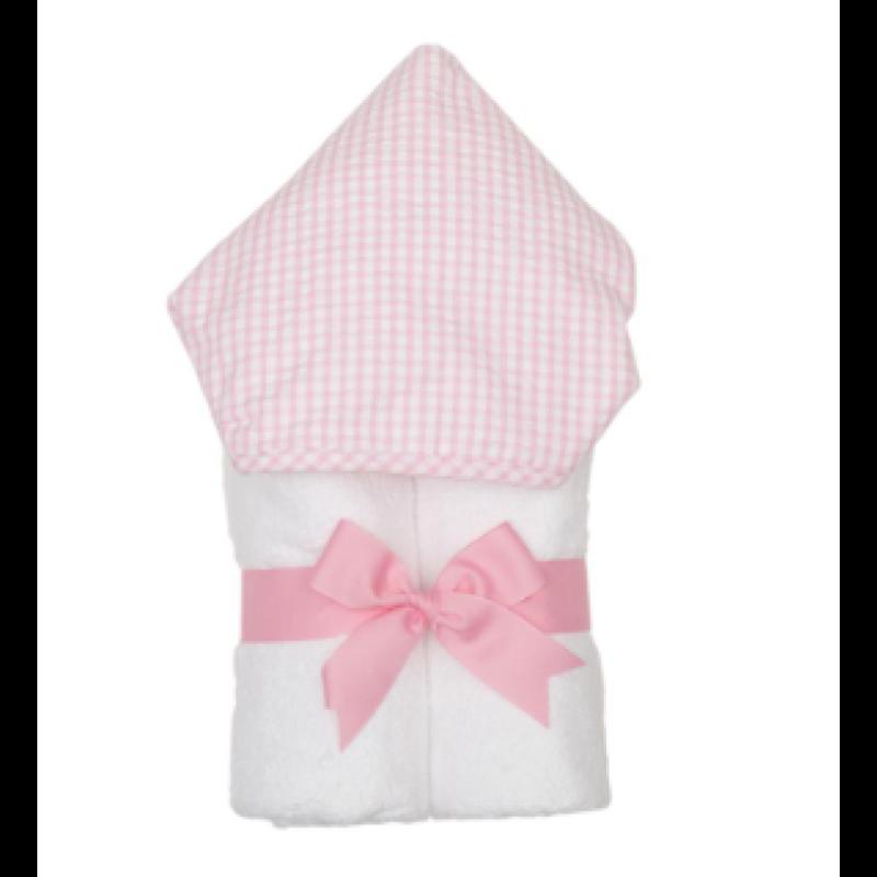 3 Marthas 3 Marthas Pink Check Everykid Towel