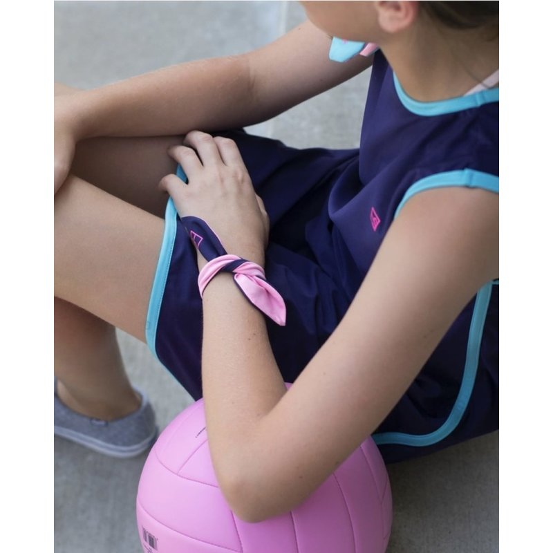 SET Athleisure SET Athleisure Navy/Pink Tee Tie