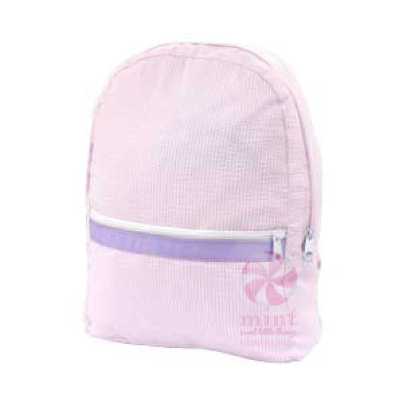 Mint Mint Princess Seersucker Medium Backpack