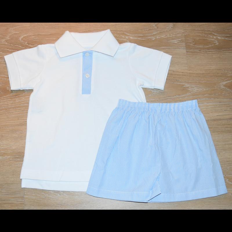 Lullaby Set Lullaby Set Parker SS Blue Stripe Pant Set