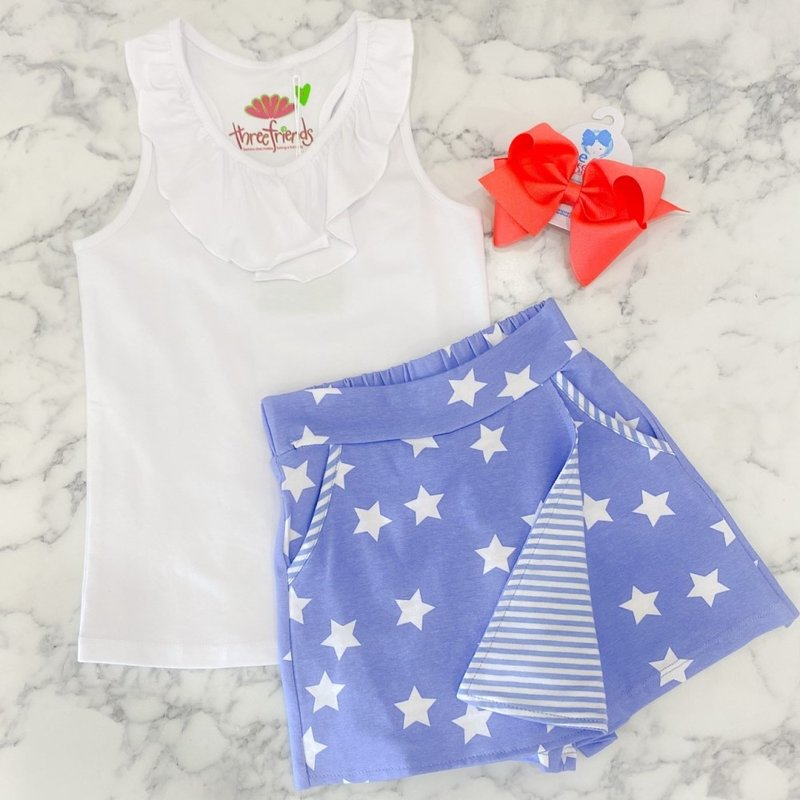 Three Friends White Taylor Racerback Top