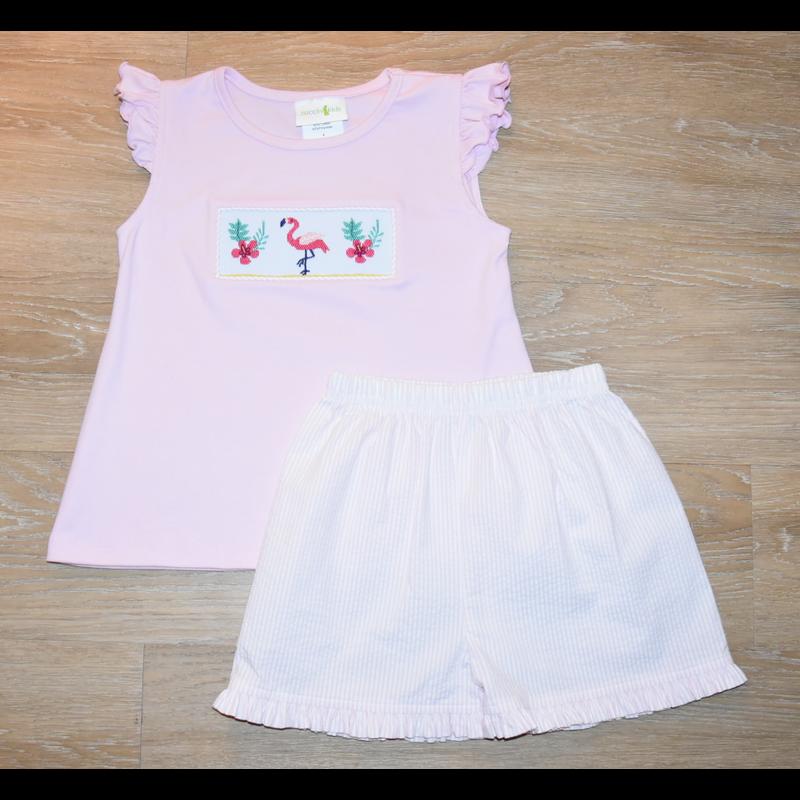 Zuccini Zuccini Smocked Flamingo T-Shirt