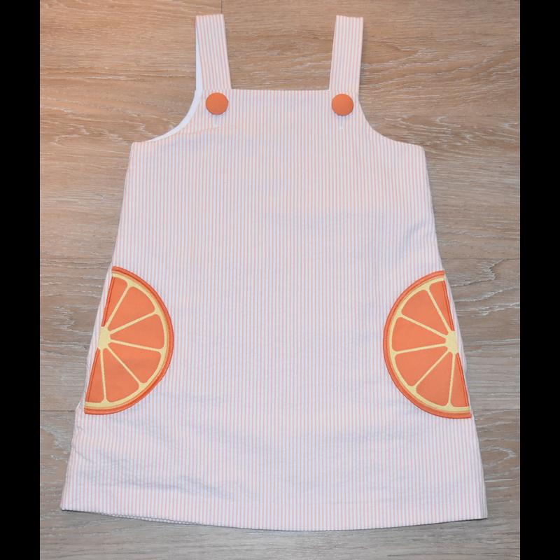 Zuccini Zuccini Orange Seersucker Dress