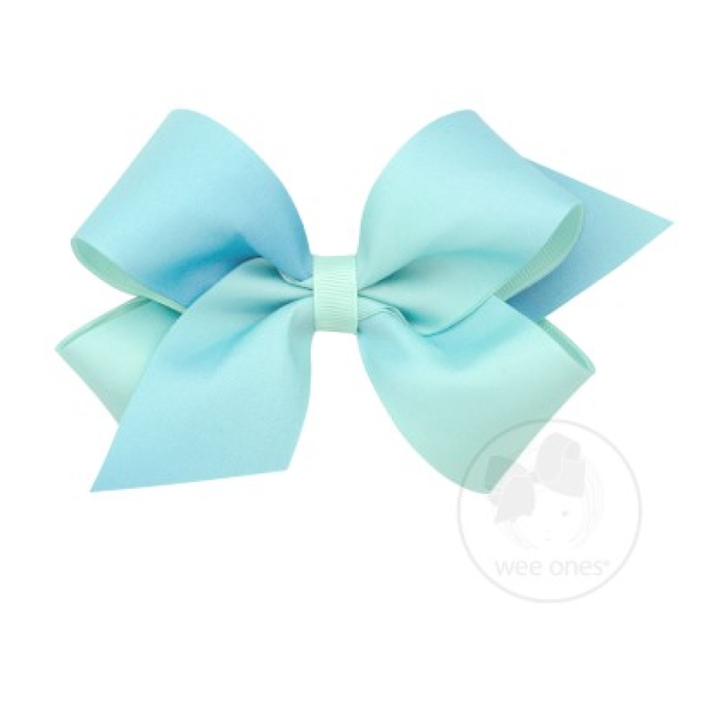 Wee Ones Bows Wee Ones Crystalline Ombre Print Bow