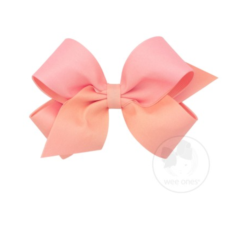 Wee Ones Bows Wee Ones Light Coral Ombre Print Bow
