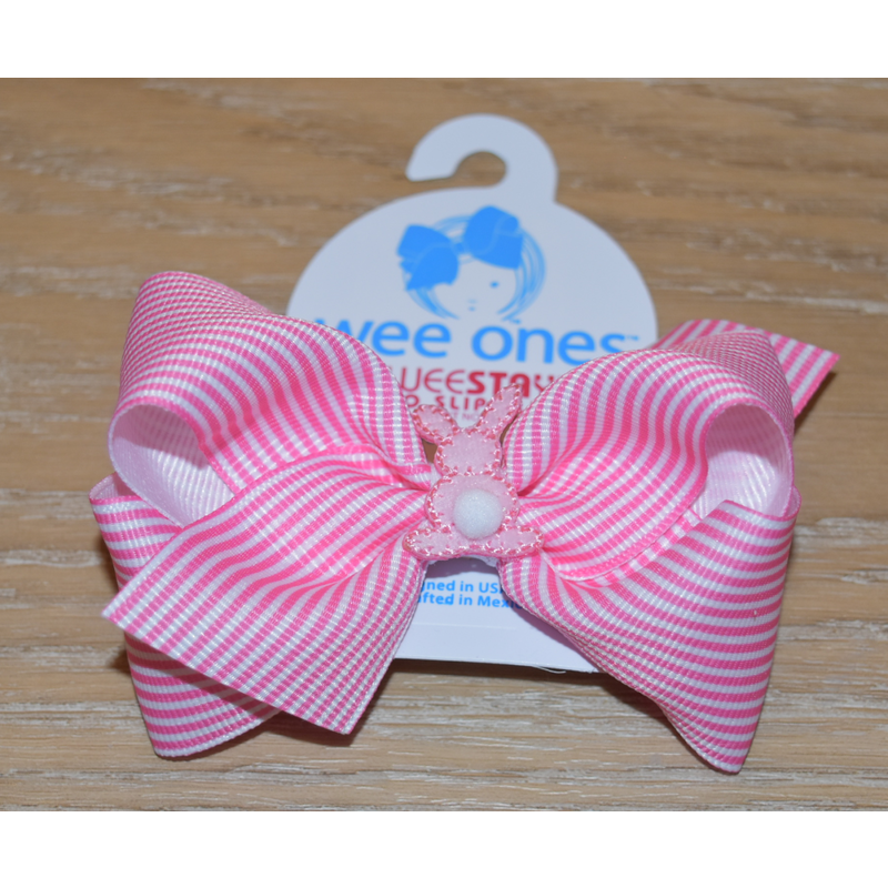 Wee Ones Bows Wee Ones Thin Stripe Cottontail Bow