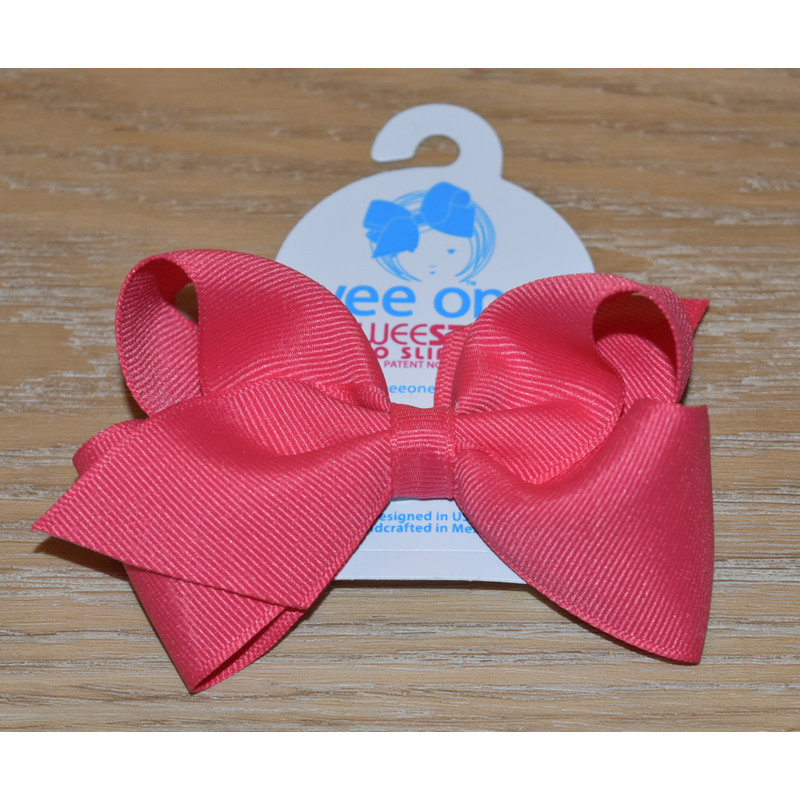 Wee Ones Bows Wee Ones French Pink Solid Grosgrain Bow