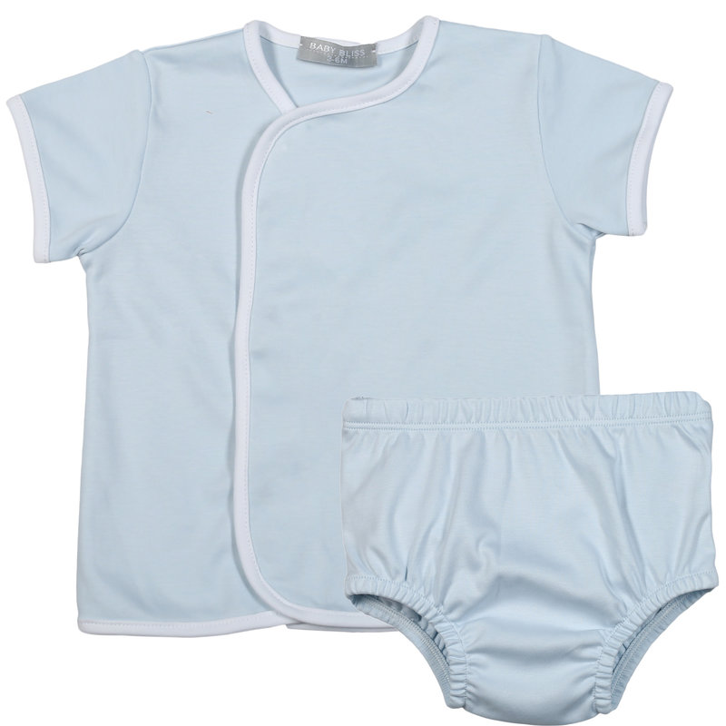 Baby Bliss Blue Diaper Cover Set