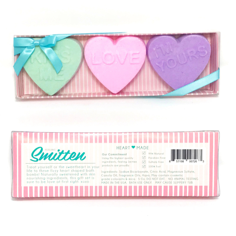 Feeling Smitten Feeling Smitten Heart Bath Bomb Trio Set