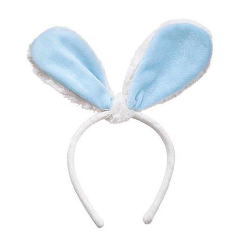 Mudpie Blue Velour Bunny Ears